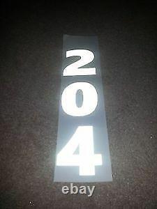 1.24x47m High Visibility Light Reflective Black White Plotter Cut Signage Vinyl