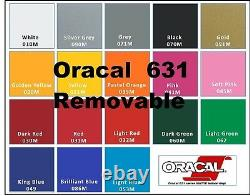 24 x 150 FEET Oracal 631 vinyl Sign Craft Plotter Removable Wall Graphic 150