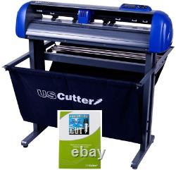 28-Inch Uscutter Titan 2 Vinyl Cutter/Plotter With Stand, Basket And Design And