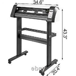 28 Vinyl Cutter Plotter Cutting Machine 720mm Sign Making Software USB Graphics