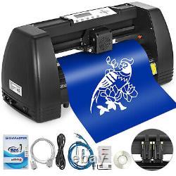 5 in 1 Heat Press 12x15 Vinyl Cutter Plotter 14 Drawing Tools Stepper motor
