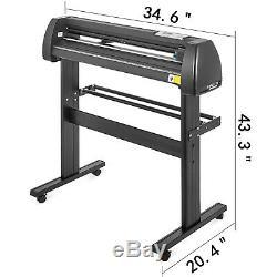 5 in 1 Heat Press 12x15 Vinyl Cutter Plotter 28 Software Sublimation