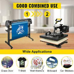 5 in 1 Heat Press 15x15 Transfer Cap 53 Vinyl Cutter Plotter Cutting 3 Blades