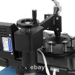 5in1 Heat Press 12x15 Vinyl Cutter Plotter 53 Swing Away Hat Mug Cap Plate