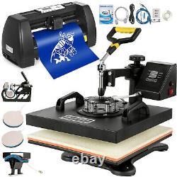 5in1 Heat Press 15x15 Vinyl Cutter Plotter 14 Sublimation Handicraft WithTable