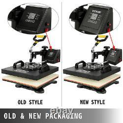 5in1 Heat Press 15x15 Vinyl Cutter Plotter 28 Software Art Craft Cap Plate
