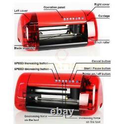 A4 Stickers Cutter Vinyl Cutter Plotter Cutting Machine Contour Cut Function Red
