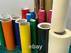Assorted Sign Adhesive Vinyl Rolls Job Lot Bundle, Car And Cutter Plotter