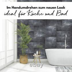 Fliesenaufkleber Stucco Zement Set Folie Naturstein Selbstklebend Bad Y042-06