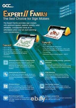GCC Expert 24 HTV & Vinyl Cutter Plotter+Stand FREE Software + FREE Shipping