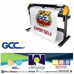 GCC Expert II-52 LX Vinyl Cutter Plotter For Sign And HTV 52 Optical Sensor