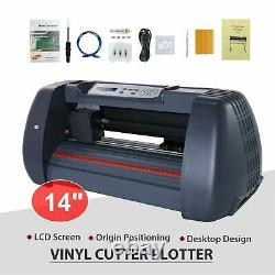New 14Vinyl Cutter Plotter Cutting Sign Maker Sticker Print Graphics LCD Screen