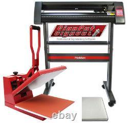 Presse à Chaud 38cm Pixmax & Plotter de Découpe de Vinyle 72cm