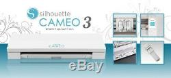 Silhouette Cameo 3 WHITE EDITION Cutter Plotter for Transfer Vinyl Card Stickers