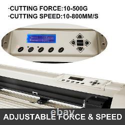 VEVOR 34 Vinyl Cutter Plotter 870mm Vinyl Signmaster Cutter with Stand 20 Blades
