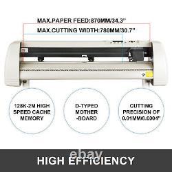 VEVOR 34 Vinyl Cutter Plotter 870mm Vinyl Signmaster Cutting with Stand 20 Blades