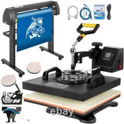VEVOR 5in1 Heat Press 15x15 Vinyl Cutter Plotter 28 Handicraft Cut Device
