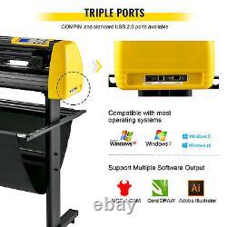 VEVOR Vinyl Cutter Machine Cutting Plotter 870mm Plotter Printer Vinyl Cutting