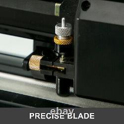 VEVOR Vinyl Cutter Plotter Cutting 34 Sign Making 3 Blades Print WithTable