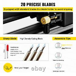 VEVOR28 Vinyl Cutter/Plotter Sign Cutting Machine Software 20 Blades LCD Black