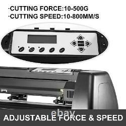 Vinyl Cutter Plotter Cutting 34 Sign Maker Backlight USB Port LCD Display
