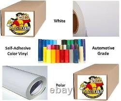 White (GLOSSY) #010 Graphic Sign 651 Cut Vinyl Plotter Craft Roll 48 x 50yd