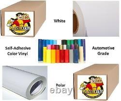 White (Gloss) #010 Graphic Sign 651 Cut Vinyl Plotter Craft Roll 42 x 50yd