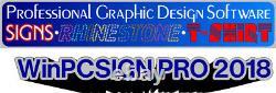 WinPCSIGN PRO 2018 USB software vinyl cutter, plotter, 600 DRIVERS VECTORIZATION