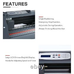 14 Plot De Coupe De Couteau De Vinyle Plotter 375mm Sticker D'imprimante Plotter Usb Port