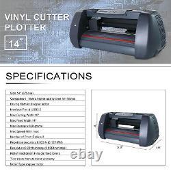 14 Plotter Cutter Vinyl Sign Maker Imprimante De Coupe De Paper Plotter Avec 3 Lames