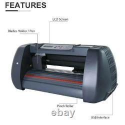 14vinyl Cutter / Plotter, Machine De Découpe De Panneau Avec Logiciel + Fournitures Écran LCD