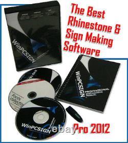 2012 Logiciel De Coupe Winpcsign Pro N'importe Quel Vinyle Cutter Plotter Uscutter, Graphtec