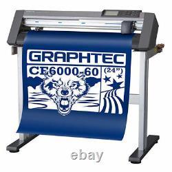 24 Graphtec Ce6000-60 Plus Vinyl Cutter /plotter Livraison Gratuite