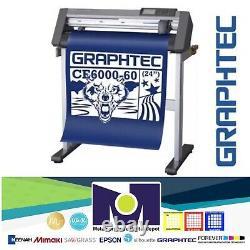24 Graphtec Ce6000-60 Plus Vinyle Cutter / Traceur Livraison Gratuite
