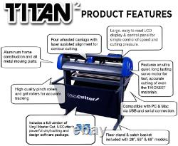 28 Pouces Uscutter Titan 2 Cutter/plotte De Vinyle Avec Support, Panier Et Design