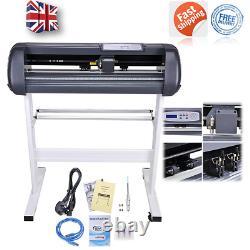 28 Vinyl Cutter Sign Plotter Sticker Cutting + Signmaster Software 3 Blades Royaume-uni