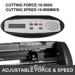 28 Vinyle Cutter Machine Avec Support Réglable Traceur Force Et Vitesse Enseignes