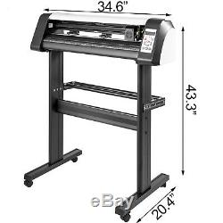 28 Vinyle Cutter Traceur Machine De Coupe 720mm Enseignes 220v Usb Logiciel