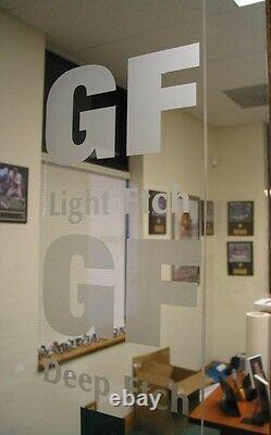 48 X 50 Yard Lumière De Verre Etch Signe Gel De Fenêtre De Traceur De Passe De L'embarcation De Film De Vinyle