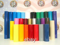 48 X 50yd 6yr Signe Extérieur Vinyle Film Artisanat Hobby Roll Sheet Plotter Colors