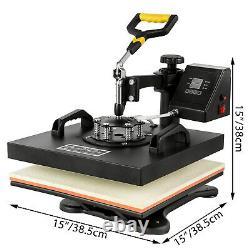 5 En 1 Presse À Chaleur 15x15 Cap De Transfert 53 Cutter De Vinyle Couper 3 Lames