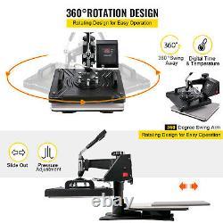 5 In1 Presse À Chaleur 12x15 Cutter En Vinyle Plotter 53 Graphics Imprimante Cutter