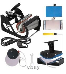 8 En 1 Presse À Chaleur 12x15 Plotter Cutter En Vinyle 28 Logiciel Kit De Sublimation