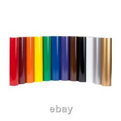 9 Rouleaux Gloss Vinyle Chaque 600mm X 8m Panneau Adhésif Collant Faisant Cutter Plotter