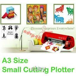 A3 Vinyle Cutter Découpeuse Machine Autocollants Cutter Contour Fonction Nouveau