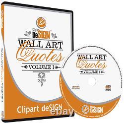 Citations D'art Mural Clipart-vinyl Cutter Plotter Images-vecteur Clip Art Graphics CD