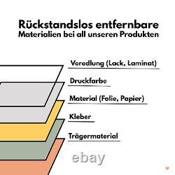 Fliesenaufkleber Stucco Zement Set Folie Naturstein Selbstklebend Mauvais Y042-06