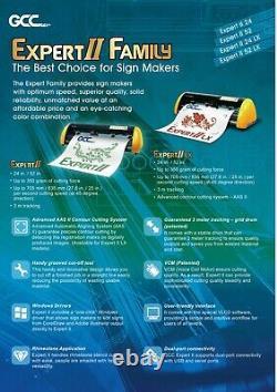 Gcc Expert Ii-52 LX Vinyl Cutter Plotter For Sign And Htv 52 Livraison Gratuite