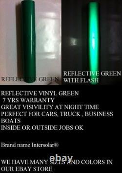 Green Reflective 24x 150 Pieds Vinyle Adhésif Signe Traceur Hight Réflectivité