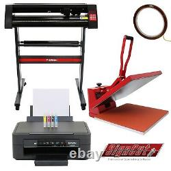Imprimante De Sublimation De Cutter De Vinyle 50cm Presse À Chaleur Plotter Machine 28 Stand Print